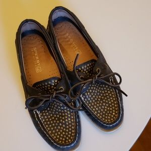 Sperry studded boat shoes